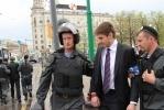 Фоторепортаж: «Организаторов акции в поддержку Владимира Путина задержал ОМОН»