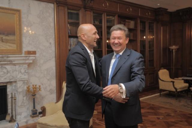 Встреча Алексея Миллера и Лучано Спаллетти: Фото