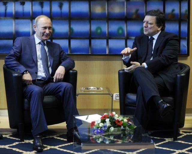 Путин и Баррозу: Фото