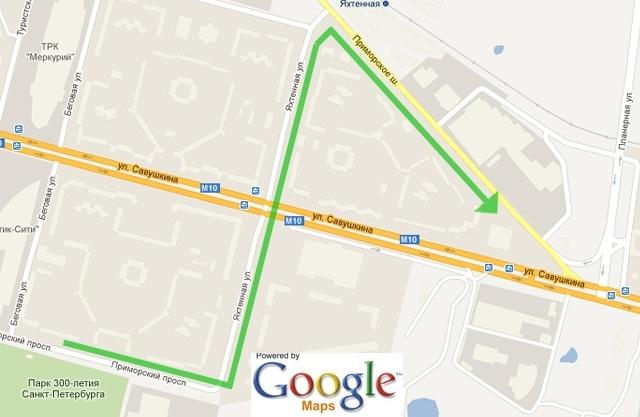 Внимание! Схема организации движения транспорта в районе Приморского транспортного узла.: Фото