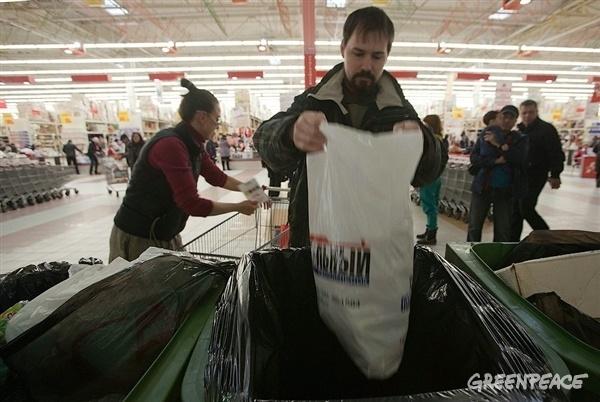 Акция Гринпис по раздельному сбору мусора: Фото