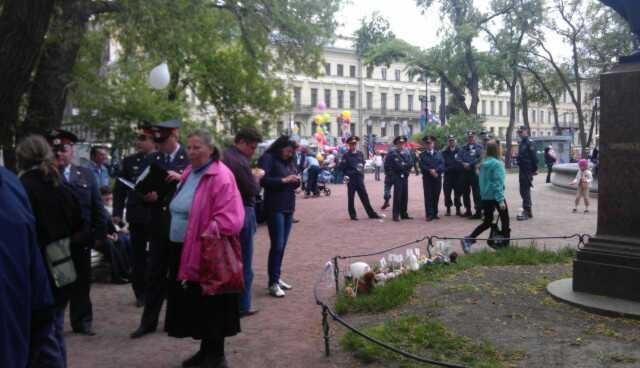 Лагерь оппозиции на площади Искусств : Фото