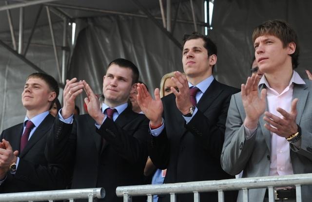 Чествование сборной России по хоккею, 29 мая 2012: Фото
