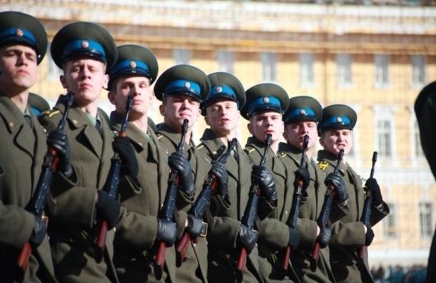 Парад победы проходит в Петербурге