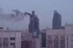 На территории «Москва-сити» произошел пожар - загорелась солярка