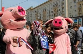 Организаторов акции в поддержку Владимира Путина задержал ОМОН