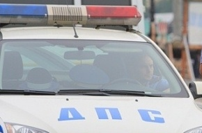 На Суворовском проспекте машина ДПС столкнулась с «Фольксвагеном»