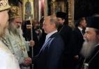 Владимир Путин в храме Гроба Господня: Фоторепортаж