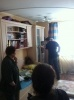 Фоторепортаж: «Полицейские обыскивают квартиру Навального»