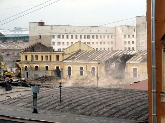 Снос на Короленко: Фото