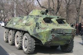 БТР врезался в автобус и в легковушку под Калининградом