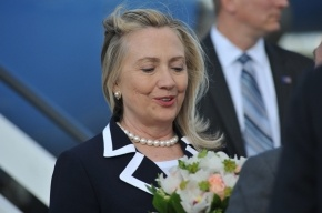 Фоторепортаж: Хиллари Клинтон прибыла в Петербург