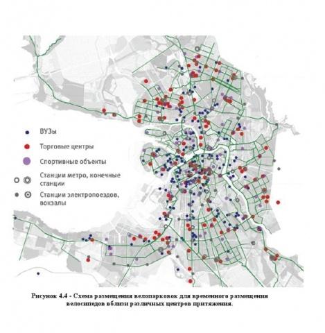 Проект велодорожек для Петербурга от московского института: Фото