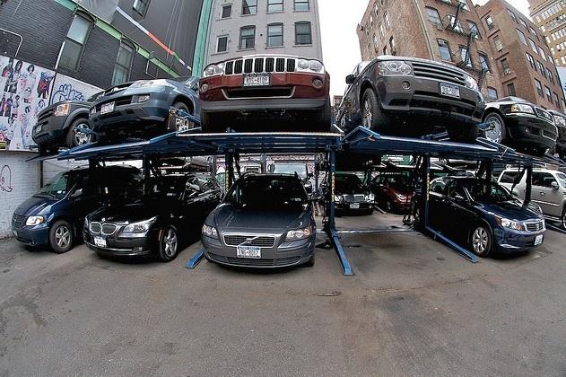 Паркинг, парковка: Фото