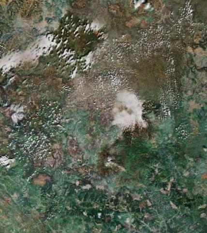 Пожары в Томской области из космоса: Фото