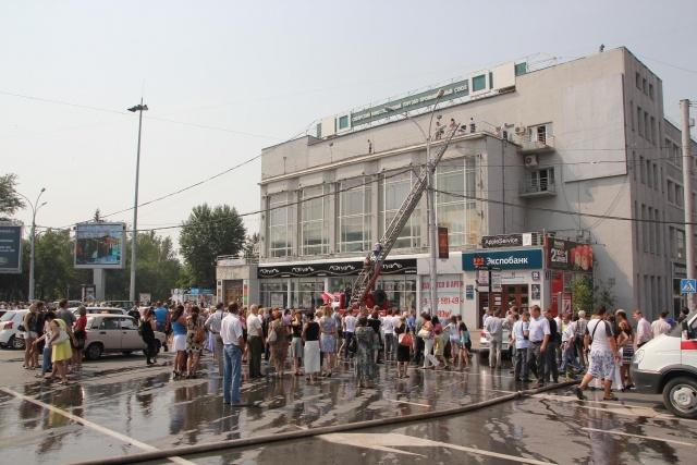 Пожар в общественной приемной Единой России в Новосибирске: Фото