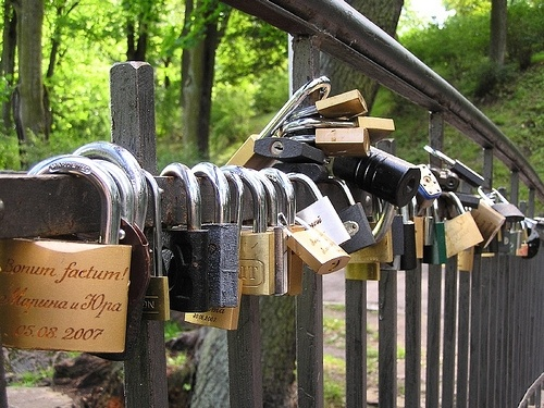 Замки счастья на мостах, молодожены: Фото