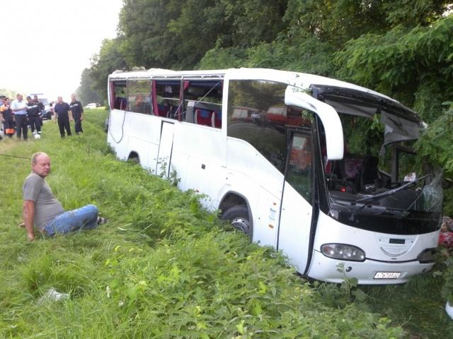 Автобус с россиянами попал в ДТП в Черниговской области : Фото