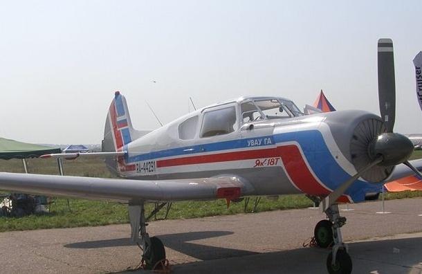 На взлетно-посадочной полосе потерпел аварию самолет