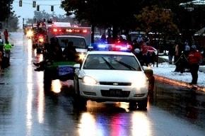 Под Петербургом иномарка вылетела на встречку и врезалась в полицейский автомобиль
