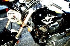 В Павловске мотоциклист сломал шею, столкнувшись с полицейским автомобилем
