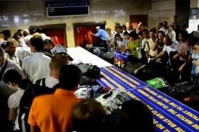 Пассажиры «Пулково» жалуются на нереальные очереди и давку (видео)