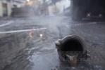Прорыв теплотрассы: Фоторепортаж