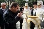 Медведев в Цхинвали: Фоторепортаж