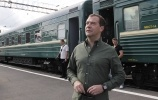 Фоторепортаж: «Дмитрий Медведев, железнодорожное турне, Сибирь»