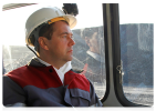 Дмитрий Медведев, шахта Листвяжная: Фоторепортаж