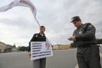 Акция против Мадонны на Дворцовой: Фоторепортаж