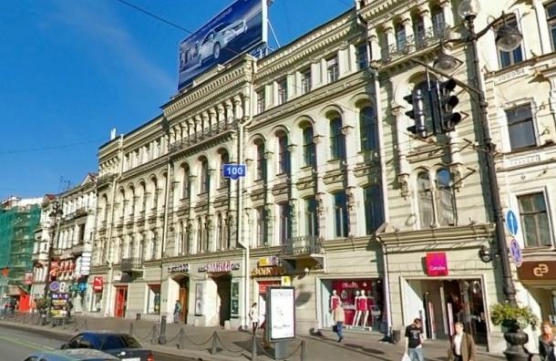На Невском повесили баннер в поддержку политзаключенных