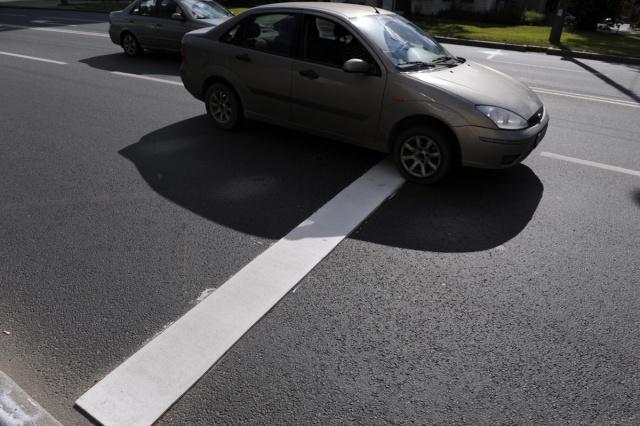 Шумовые полосы на проспекте Мориса Тореза: Фото