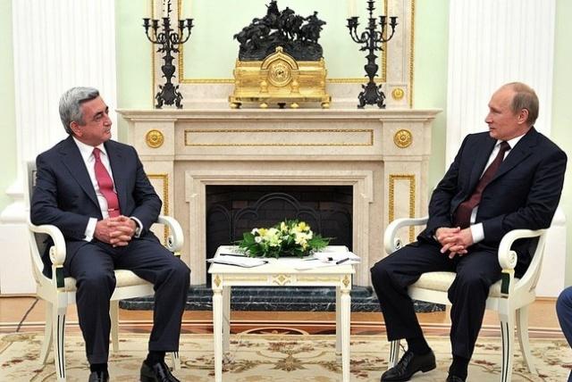 Путин и Саргсян 8 августа 2008: Фото