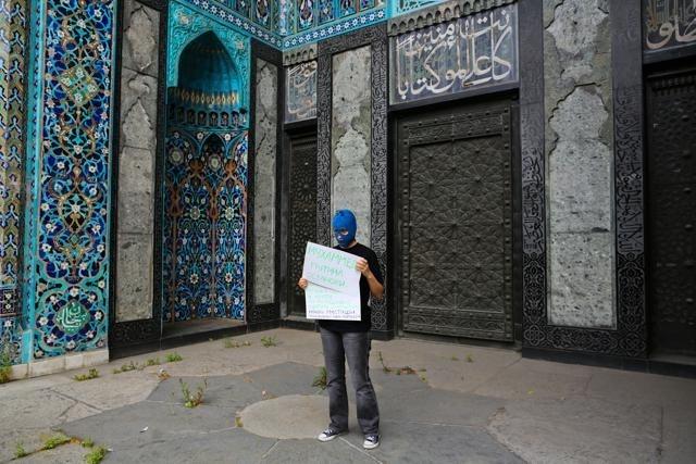 Пикет Pussy Riot Соборная мечеть 16 августа 2012: Фото