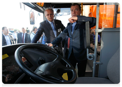 Дмитрий Медведев, шахта Листвяжная: Фото