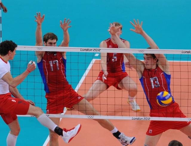 1/4 финала по волейболу среди мужских команд на Олимпиаде-2012: Польша – Россия - 0:3: Фото