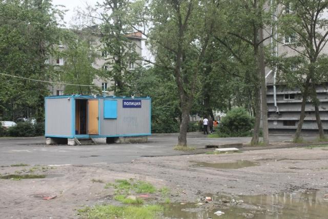 Кровавый футбол, дом на пр. Обуховской обороны: Фото