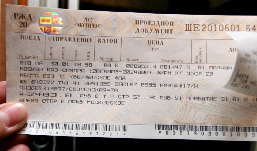 Картинка плацкартный билет