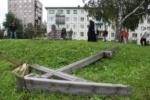 В России массово пилят поклонные кресты