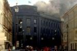 В центре Петербурга горит Университет технологии и дизайна