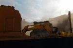 Как в центре Петербурга сносили дом (видео)