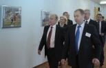 Путин в гимназии №1519: Фоторепортаж
