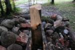 Спиленный крест Распутина в Царском Селе: Фоторепортаж