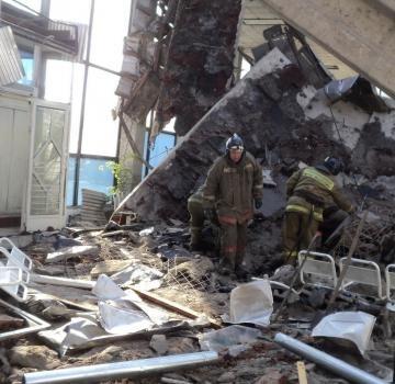 Автовокзал в Белово обрушение : Фото