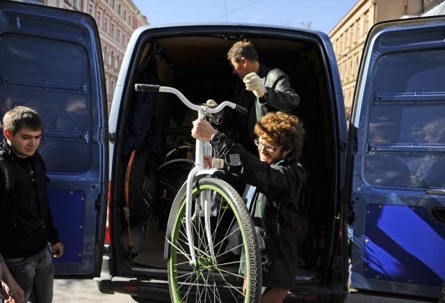 Бесплатные велосипеды в Таврическом саду : Фото