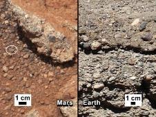 Марсоход Curiosity нашел древнее русло ручья: Фото