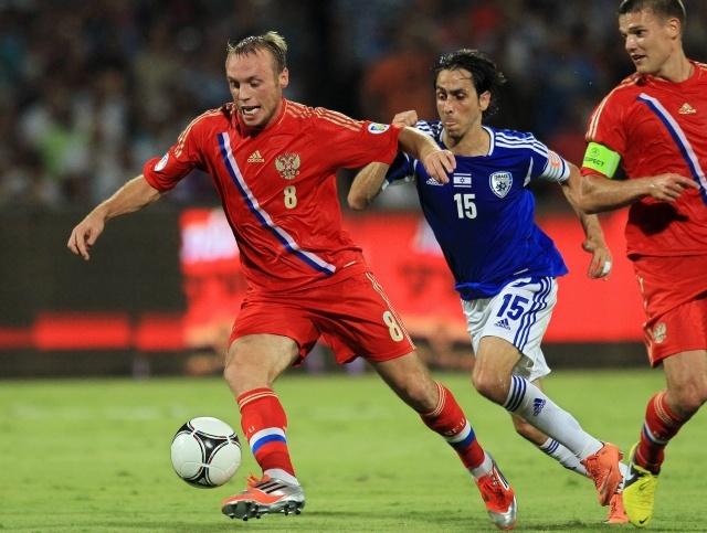 Россия – Израиль: футбол 2012: Фото