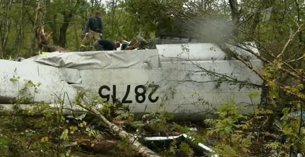 Ан-28 разбился на Камчатке: Фото