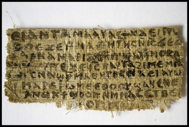 Папирус с упоминанием жены Христа: Фото